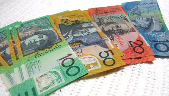Australian dollars denomination notes - 10, 20, 50, 100
