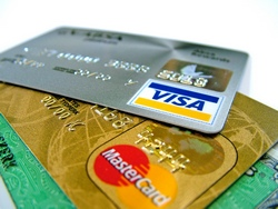 Visa and Mastercard cards