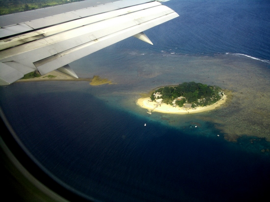Island hopping by plane