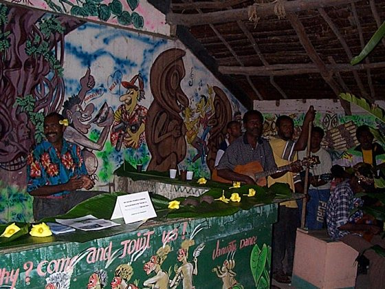 Kava kava drink bar at Melanesian Feast Night