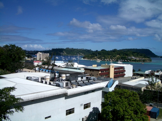 Town of Port Vila on Efate Island
