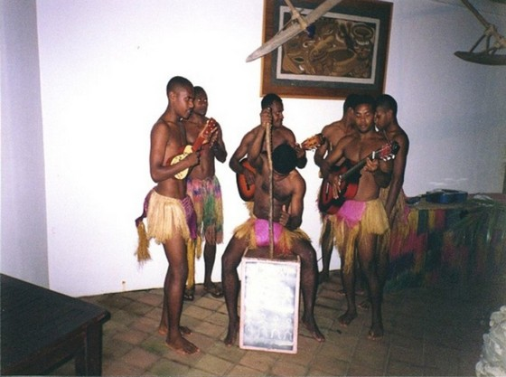 Vanuatu string band playing music at a club