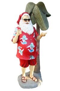 Tropical Santa and palm figure